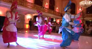 Colorful dance at Indian wedding